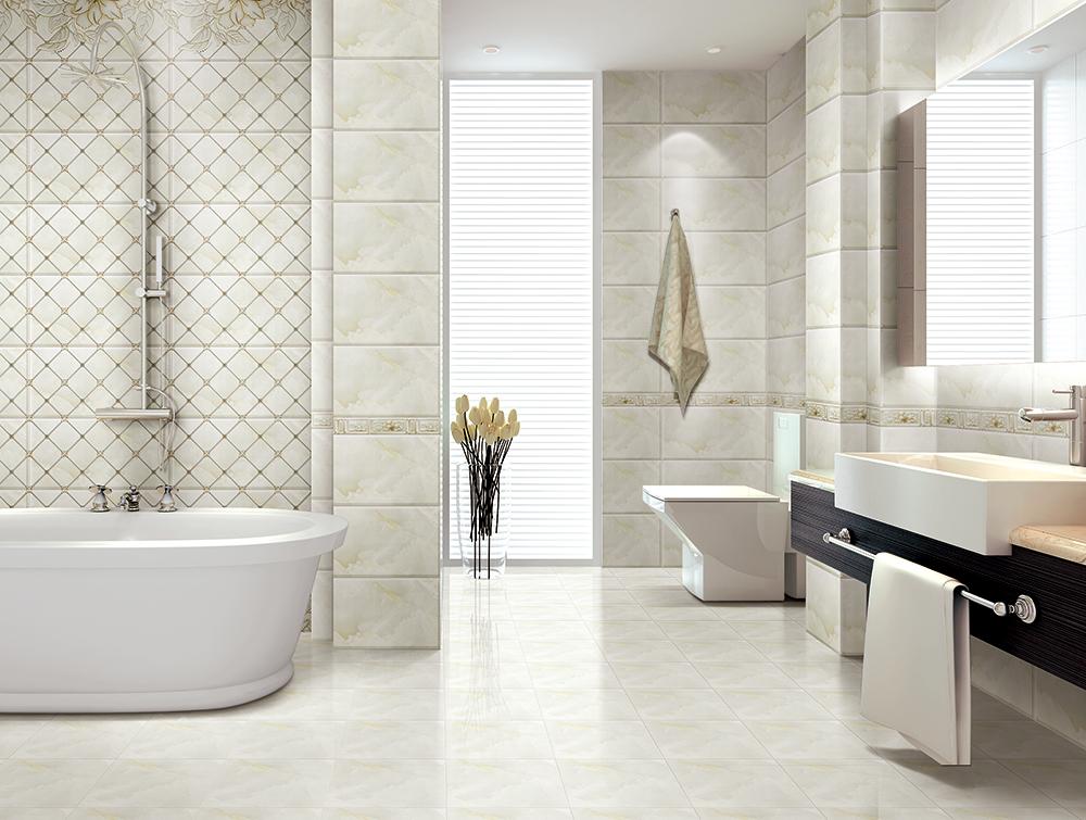 用瓷砖将干湿空间分隔开  金艾陶瓷砖KPT36307铺贴应用效果 分隔干湿区域的目的就是让浴室根据不同的功能各自独立起来。运用不同颜色瓷砖来装饰墙面或地面,让干区和湿区产生明显的分隔,是个让浴室看起来既清爽又具有设计感的好方法。根据自己浴室的空间大小、结构、采光度和实际需求来选择与之搭配的瓷砖。 对比色瓷砖分隔沐浴区  金艾陶瓷砖KPM30011+KPM30012铺贴应用效果 用瓷砖冷、暖色的对比来装饰浴室,绝对是一个好方法。蓝色瓷砖对光的?#29943;?#20284;乎让人有置身海洋的?#20301;?#24863;觉,用在干区呈现的效果冰冷清冽。橘色